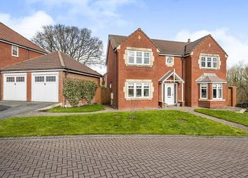 Thumbnail 4 bed detached house for sale in Meadowland Close, Farington Moss, Leyland