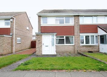 Thumbnail 3 bed semi-detached house to rent in Amberley Way, Blyth