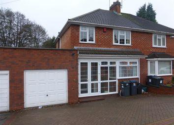 Thumbnail 3 bed semi-detached house to rent in Craythorne Avenue, Handsworth Wood, Birmingham