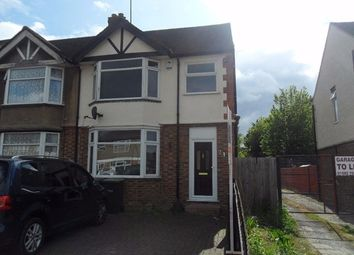 Thumbnail 3 bedroom semi-detached house to rent in Browning Road, Luton