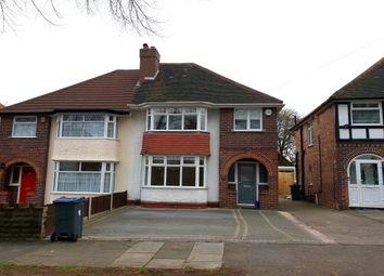 Thumbnail 3 bed semi-detached house to rent in Robin Road, Erdington, Birmingham