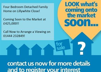 Thumbnail 4 bed detached house for sale in Lillywhite Close, Burgess Hill