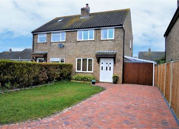 Thumbnail 3 bed semi-detached house for sale in Stone Close, Watlington, King's Lynn