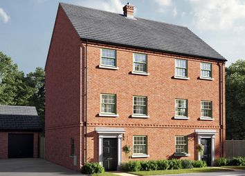 """Thumbnail 4 bed terraced house for sale in """"The Burnet"""" at Central Avenue, Brampton, Huntingdon"""