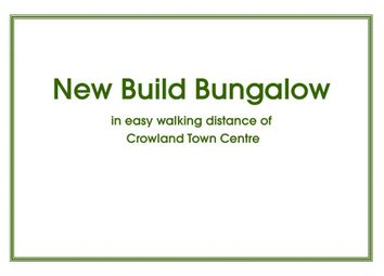 Thumbnail 2 bed bungalow for sale in Broadway, Crowland, Peterborough