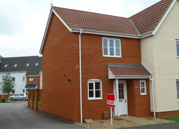Thumbnail 2 bed semi-detached house to rent in Ensign Way, Diss, Norfolk
