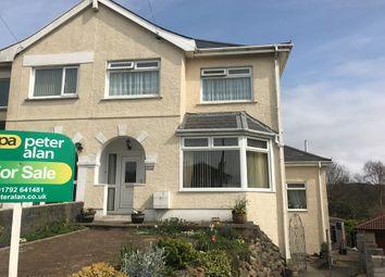 Thumbnail 5 bedroom semi-detached house for sale in Lon Mafon, Sketty, Swansea