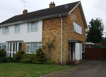 Thumbnail 3 bed semi-detached house to rent in Wilmington Close, Woodley, Reading