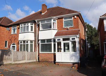 Thumbnail 3 bed semi-detached house for sale in Calverley Road, Kings Norton, Birmingham