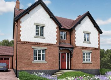 Thumbnail 4 bedroom detached house for sale in Moira, Leicestershire