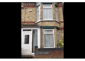 Thumbnail 2 bedroom terraced house to rent in Perth St West, Hull