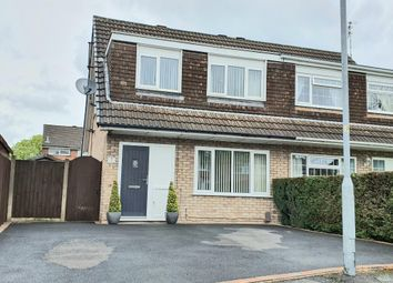Thumbnail 3 bed semi-detached house for sale in Canford Close, Great Sankey, Warrington