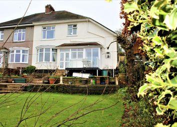 Thumbnail 4 bed semi-detached house for sale in Furzehatt Road, Plymstock, Plymouth, Devon