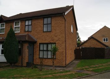 Thumbnail 3 bed semi-detached house for sale in Bracken Close, Leicester