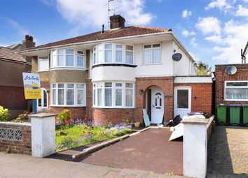Thumbnail 3 bedroom semi-detached house for sale in Foreland Avenue, Folkestone, Kent