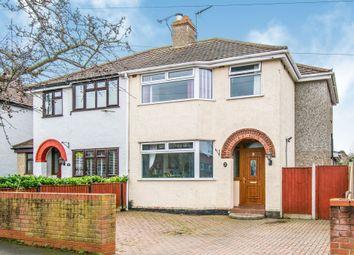 Thumbnail 3 bed semi-detached house for sale in Monckton Avenue, Lowestoft