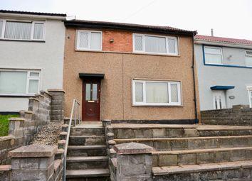 Thumbnail 3 bedroom terraced house for sale in Ash Crescent, Gurnos, Merthyr Tydfil