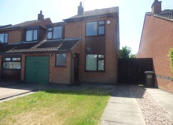 Thumbnail 3 bed semi-detached house to rent in Harcourt Crescent, Nuthall, Nottingham
