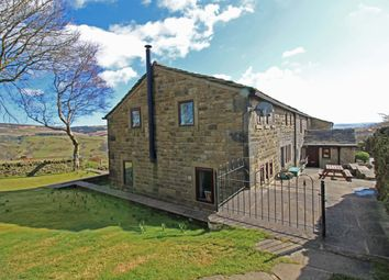 Thumbnail 4 bed farmhouse for sale in Tower Causeway, Todmorden