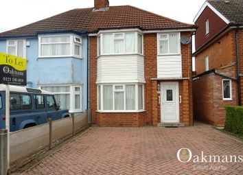Thumbnail 3 bed semi-detached house to rent in Woolacombe Lodge Road, Birmingham, West Midlands.