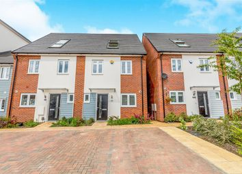 Thumbnail 3 bed town house for sale in Waterside Road, Wellingborough
