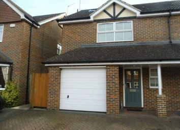 Thumbnail 4 bed semi-detached house to rent in St. Thomas Close, Chilworth, Guildford