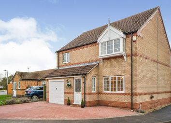 Thumbnail 3 bed detached house for sale in Brooklands Close, Lincoln