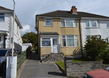 Thumbnail 3 bed semi-detached house for sale in Druslyn Road, West Cross, Swansea