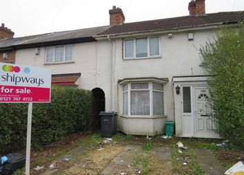 Thumbnail 2 bed terraced house for sale in Millhouse Road, Yardley, Birmingham