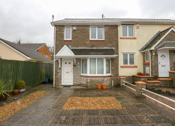 Thumbnail 3 bed semi-detached house for sale in Trevithick Gardens, Merthyr Tydfil