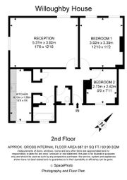 Thumbnail 2 bed flat for sale in Willoughby House, Reardon Path, London