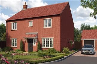 Thumbnail 4 bed detached house for sale in Hanwell View, The Sandy, Southam Road, Banbury