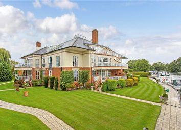 Thumbnail 3 bed flat for sale in Dockett Moorings, Mead Lane, Chertsey, Surrey