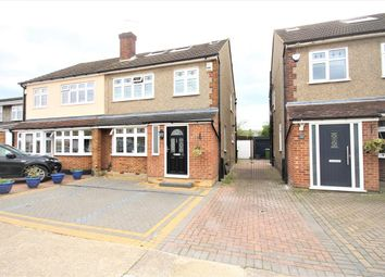 Thumbnail 4 bed semi-detached house for sale in Epping Close, Romford