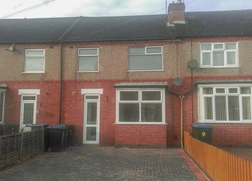 Thumbnail 3 bed terraced house to rent in Glendower Avenue, Coventry