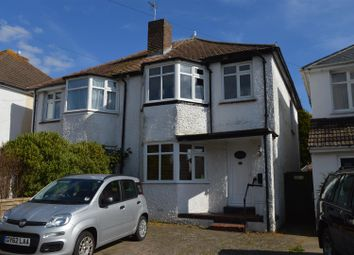 Thumbnail 3 bed semi-detached house for sale in Church Hill Avenue, Bexhill-On-Sea