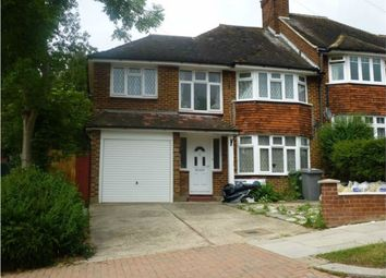Thumbnail 3 bedroom semi-detached house to rent in West Hill, Wembley, Greater London