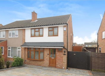 Thumbnail 3 bed semi-detached house to rent in Mendip Crescent, Bedford