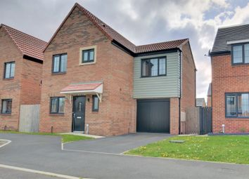 Thumbnail 3 bed detached house for sale in Walkerfield Court, Newcastle Upon Tyne