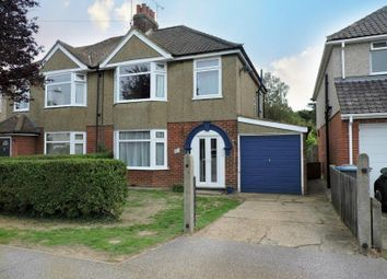 Thumbnail 3 bed semi-detached house for sale in Deben Avenue, Martlesham Heath, Ipswich