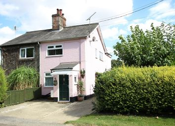 Thumbnail 3 bed semi-detached house for sale in Broomvale Cottages, The Common, Little Blakenham, Ipswich, Suffolk