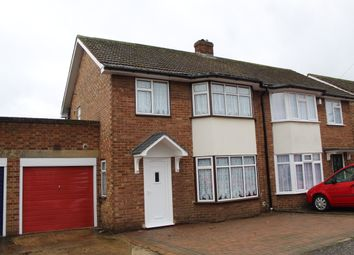 Thumbnail 3 bed semi-detached house for sale in Denholme Walk, South Hornchurch, Essex