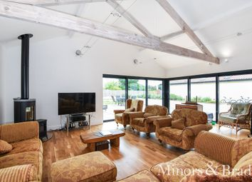Thumbnail 5 bed detached bungalow for sale in Hall Lane, Crostwick, Norwich