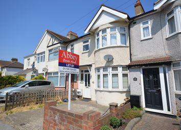 Thumbnail 3 bedroom terraced house to rent in Upminster Road South, Rainham, Essex