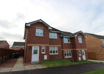 Thumbnail 3 bed semi-detached house for sale in Wilkie Drive, New Stevenston, Motherwell, North Lanarkshire