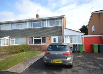 Thumbnail 3 bed semi-detached house to rent in Carlton Road, Broadfields, Exeter, Devon