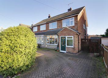 Thumbnail 3 bed semi-detached house for sale in Elm Crescent, Glinton, Peterborough