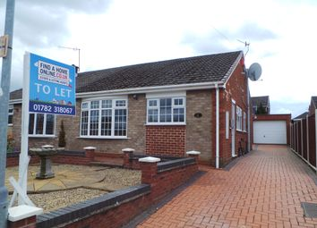 Thumbnail 2 bed semi-detached bungalow to rent in Rugby Drive, Dresden, Stoke-On-Trent