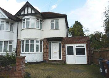 Thumbnail 3 bed semi-detached house to rent in Kingshill Drive, Kenton