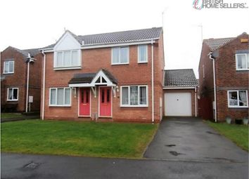 Thumbnail 2 bed semi-detached house for sale in Hallgarth, Consett, Durham